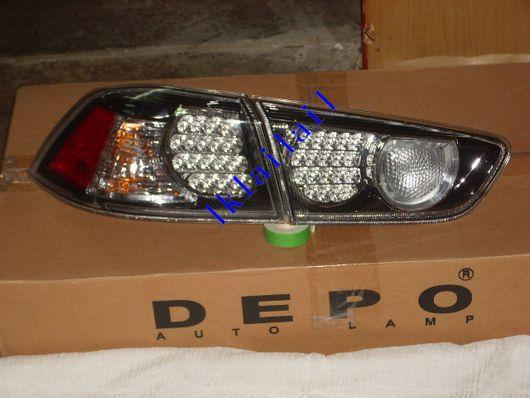 DEPO Mitsubishi Lancer `08 4B11 Tail Lamp Crystal LED Black