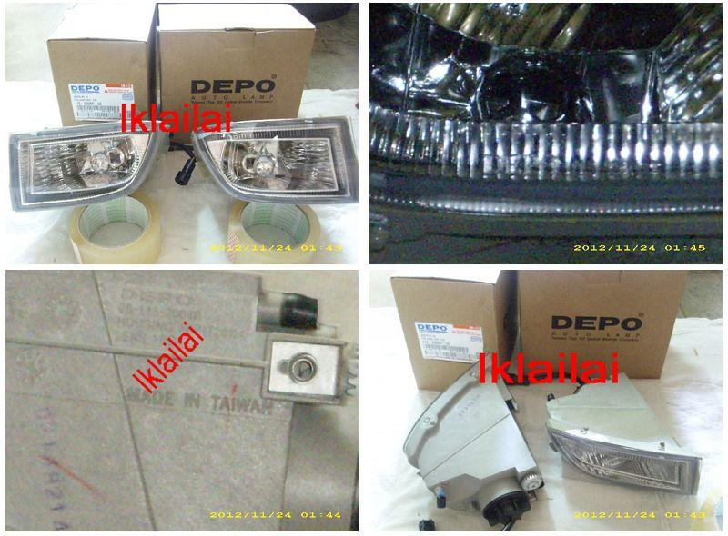 DEPO Nissan Sentra N16 `03 Fog Lamp Crystal W/Out Wiring & Switch