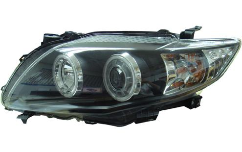 DEPO Toyota 08 Altis Head Lamp Black Projector W/ CCFL + LED (TY16-HL0