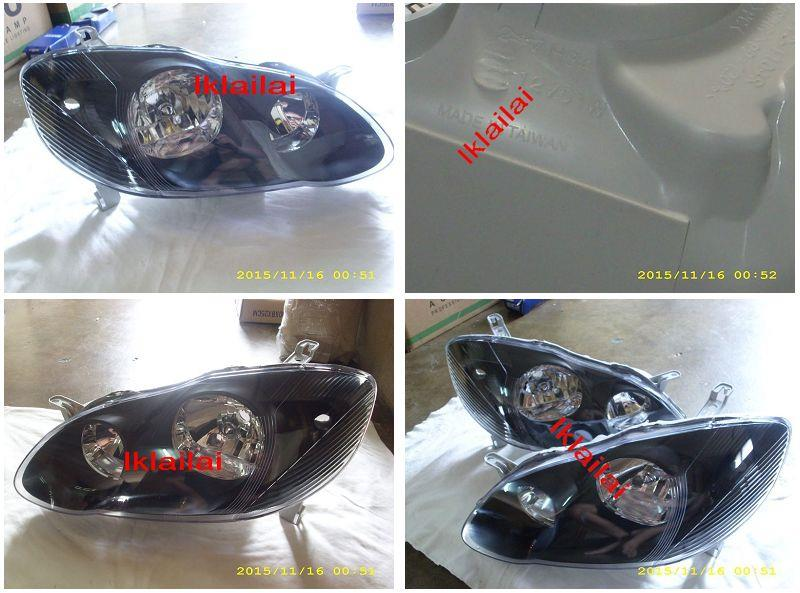 DEPO Toyota Altis '01 Crystal Head Lamp Black