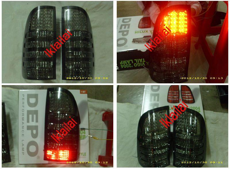 DEPO Toyota Hilux Vigo 04 Tail Lamp Crystal LED Smoke [TY44-RL03-U]