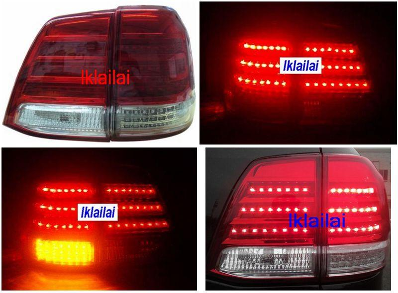 DEPO Toyota Landcruiser `08 FJ200 Tail Lamp Crystal LED Red/Clear Lexu