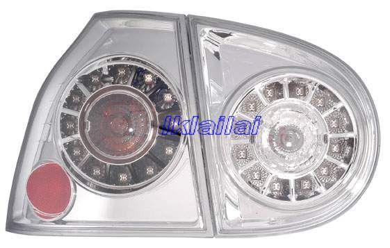 DEPO Volkswagen 05 V Golf - Rear Lamp Crystal LED Black (VW01-RL02-U)