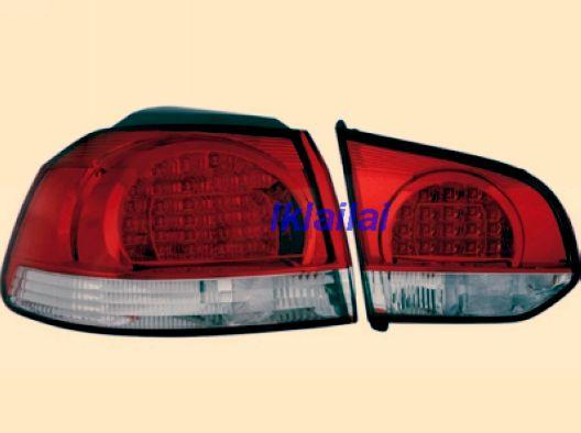 DEPO Volkswagen Golf 6 `08 Tail Lamp Crystal LED Red/Clear [VW02-RL01-