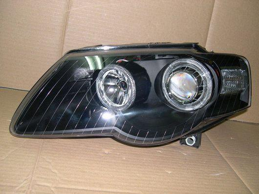 DEPO VW PASSAT '06-08 Projector Head Lamp LED Ring [Black Housing]