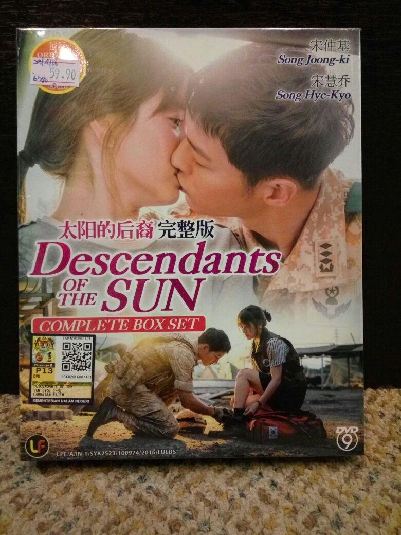 DESCENDANTS OF THE SUN - COMPLETE TV SERIES DVD BOX SET (1-16 EPIS)