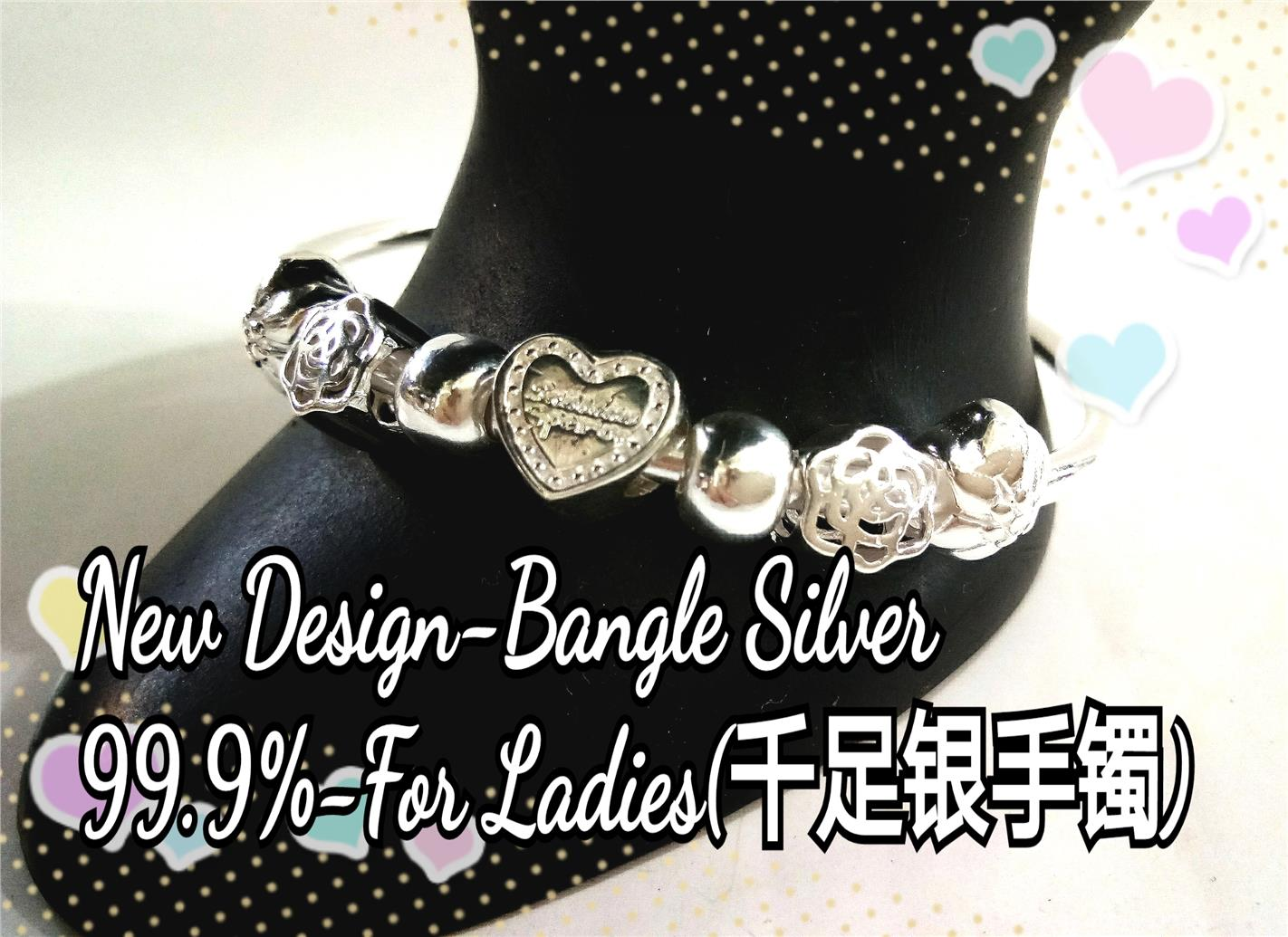 New Design-Bangle Silver 99.9% for Ladies#1