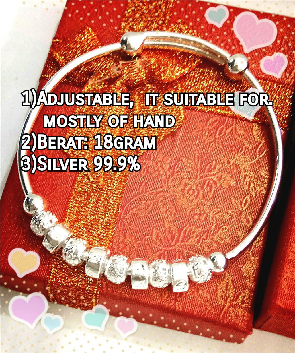 New Design-Bangle Silver 99.9% for Ladies#2