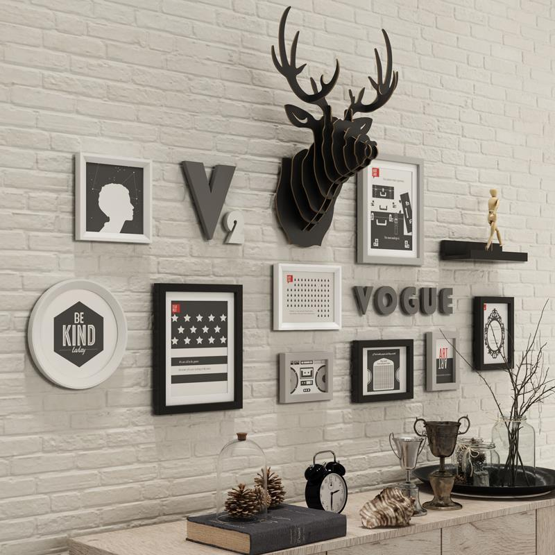 New Design Deer Head Vogue Home Decorative 9 Pieces Wall Photo Frame