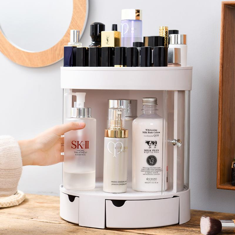 Desktop Dresser Cosmetic Skincare Storage Box Bathroom