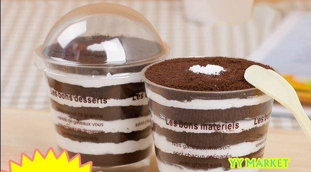 Dessert Transparent Cup/Tiramisu Cup/Jelly Cup/Cup and Cover In Set