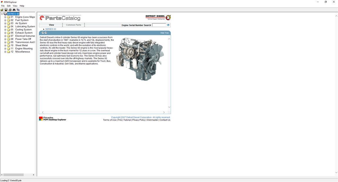 Detroit Diesel Parts Catalog Series 82l 50 55 60 2000 4000