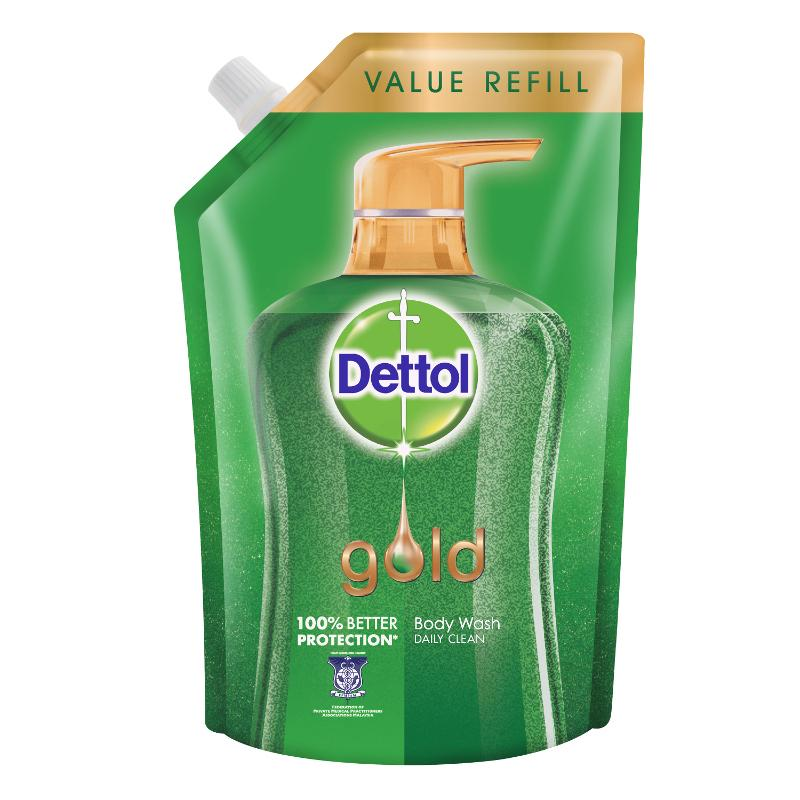 Perfect Dettol Gold Shower Gel Daily Clean Gel Refill 900ml X 2. U2039 U203a