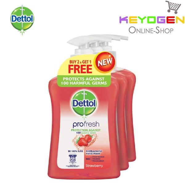 Dettol Hand Wash Pro Fresh Strawberry 250ml x 3 (Value Pack)