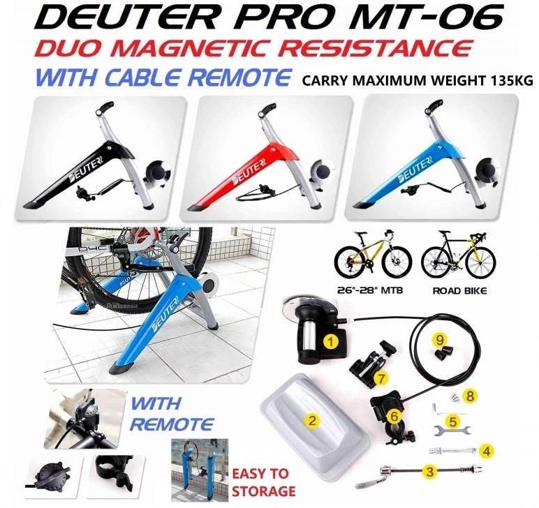 DEUTER PRO MT-06 BICYCLE TRAINER WITH REMOTE CABLE