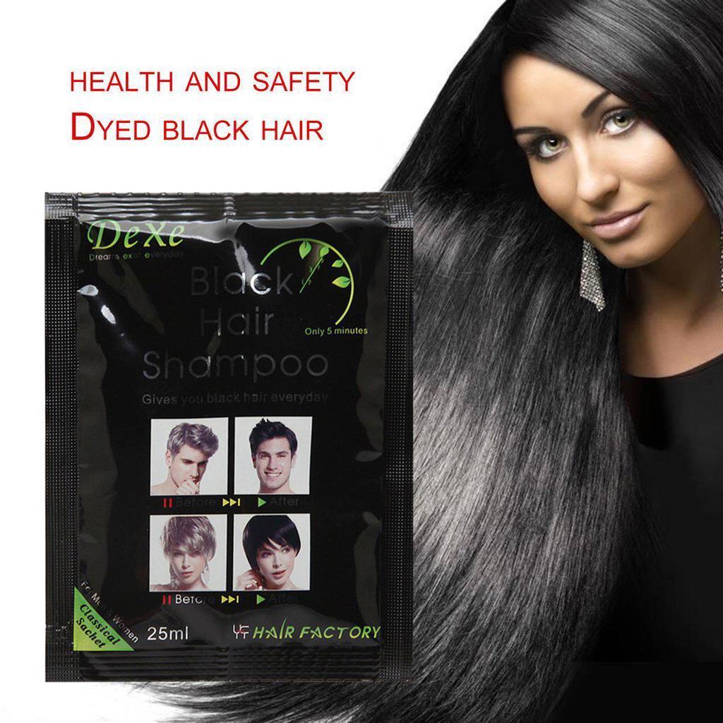 Dexe Black Hair Shampoo Grey Hair Removal Dye Hair Color Only 5 Minute
