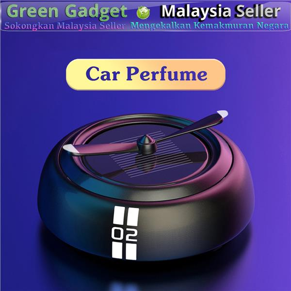 DG03 Car Perfume Air Refresher Pewangi Kereta Alloy Solar Rotating ..