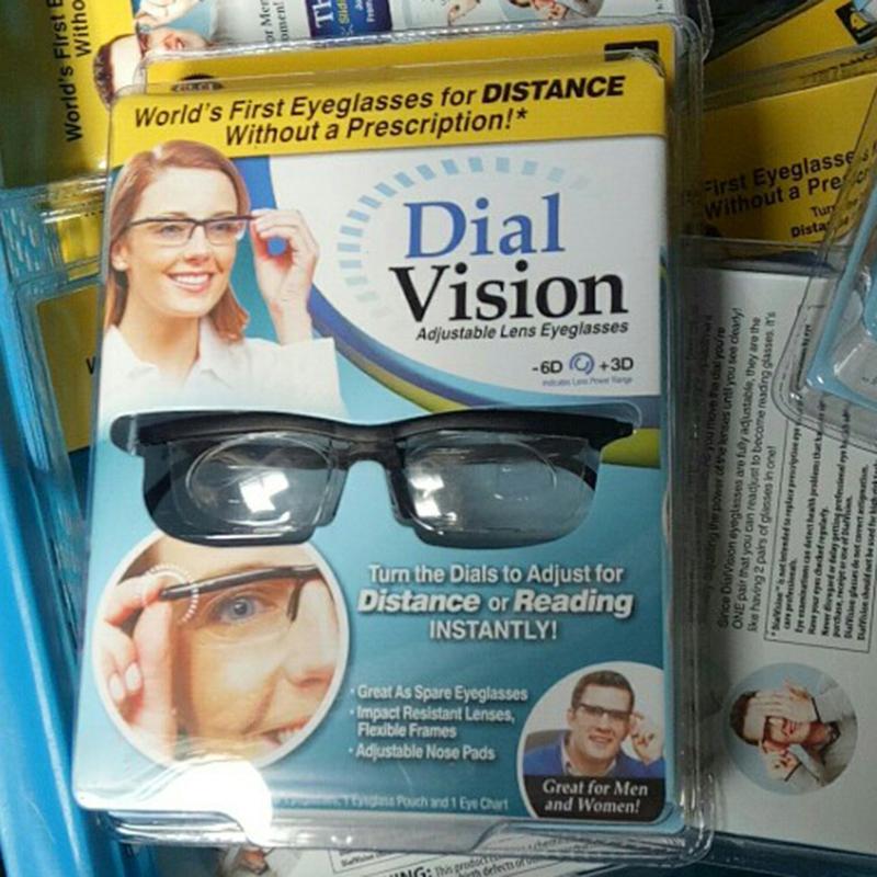 abb98574b2 dial vision Adjustable lens Glasses Adjustable Dial Eye Glasses Vision