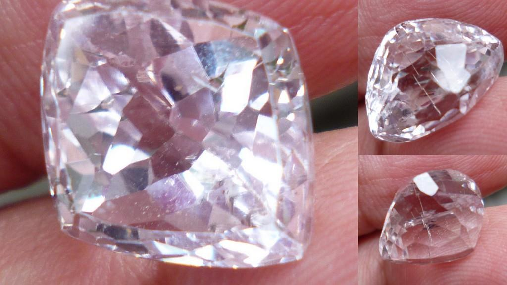 DIAMOND CUT  CLEAR  QUARTZ CRYSTAL 8.5 CTS