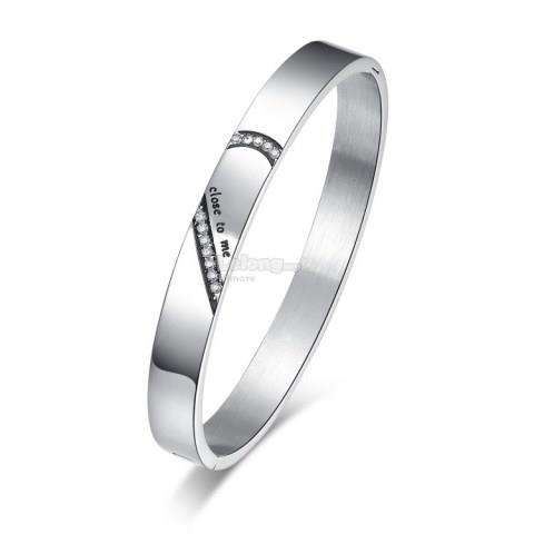 Diamond Embellished Couple Bangle