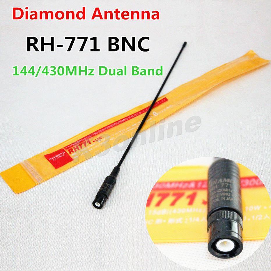 Diamond RH-771 Antenna Walkie Talkie Dual Band BNC