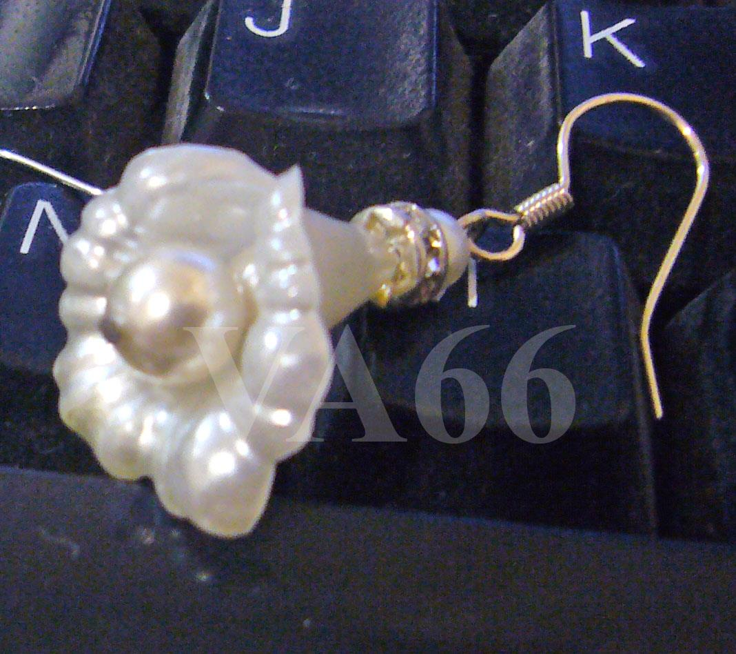 Diamond Swarovski Pearl Earrings Flower Calli Tulip Lucite Lily Anting