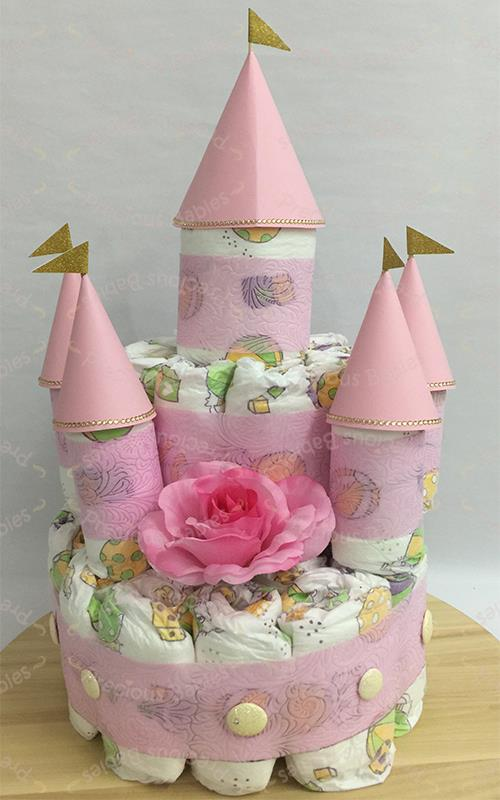 Diaper Castle Cake For GIRL End 9 12 2019 915 PM