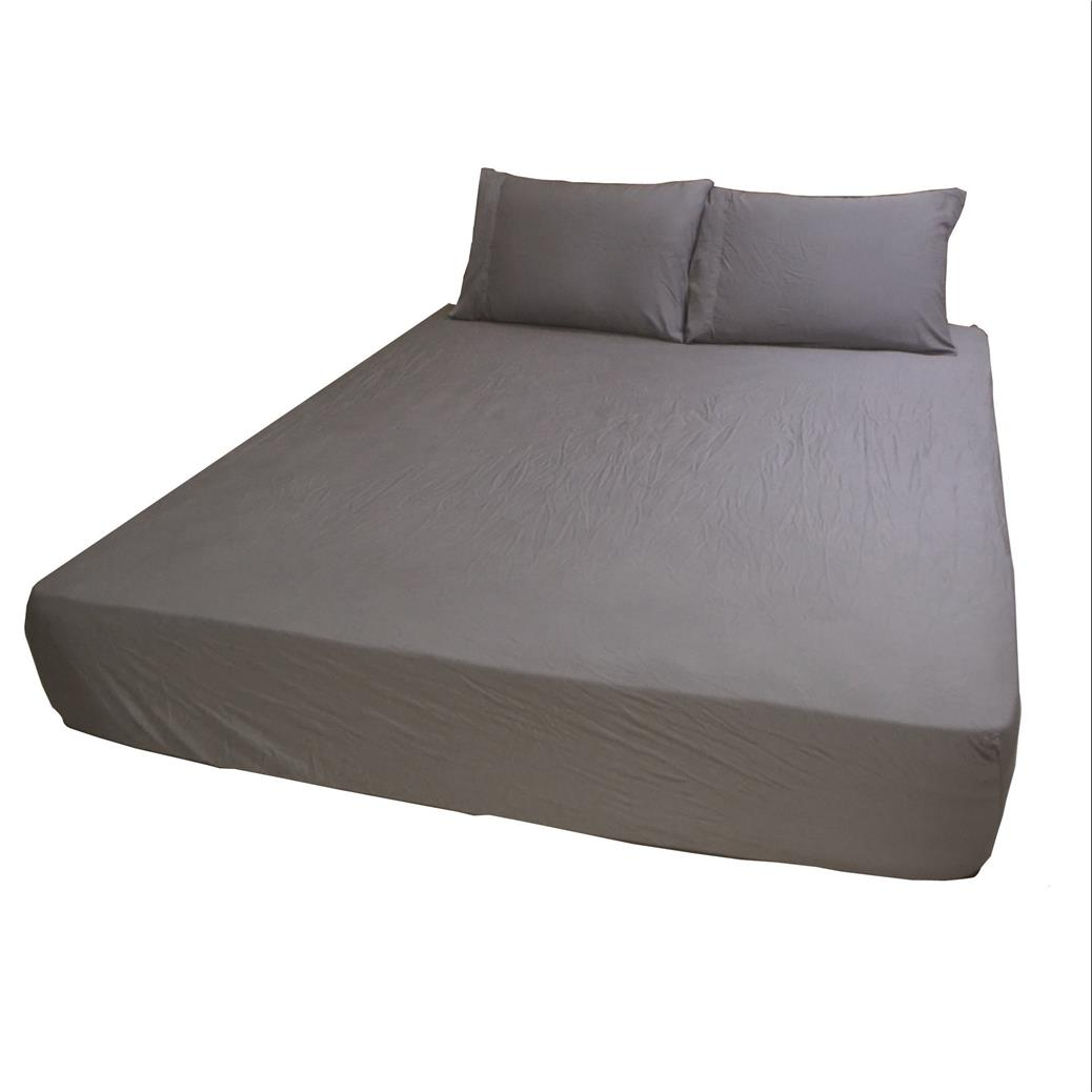 DIBELLO 100% Organic Bamboo Bed Sheet Set (Color: Steel Grey)