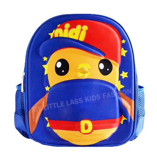 Didi And Friends 3D Backpack School Bag Blue/Pink 3-6y