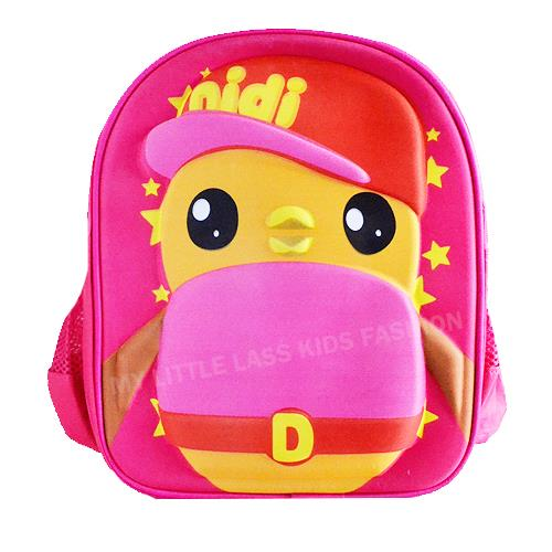 Didi And Friends 3D Backpack School Bag Blue/Pink 3-6y pink