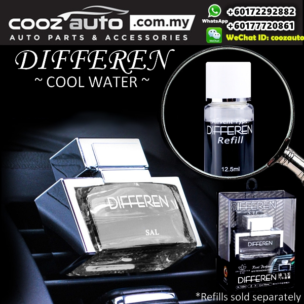 DIFFEREN Cool Water Scent Luxury Air Vent Type Car Air Freshener Car  Perfume O