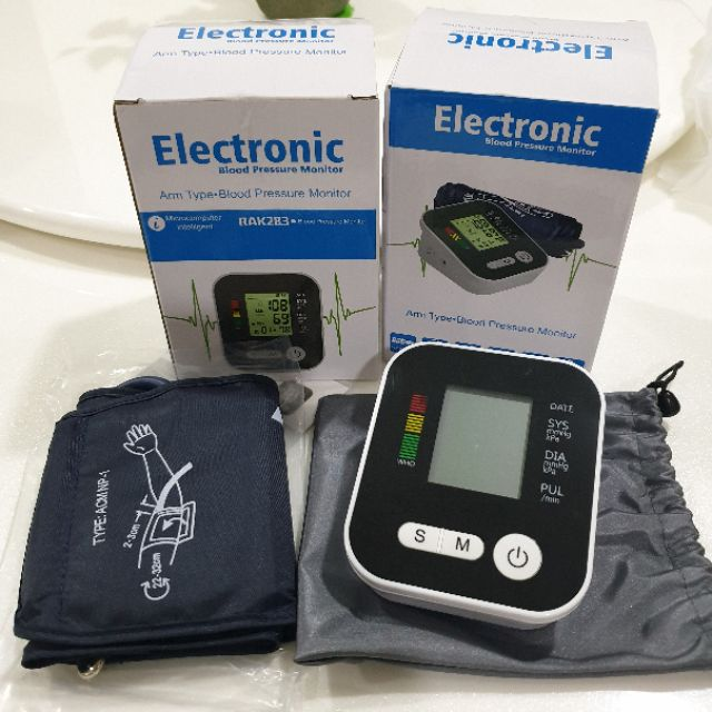 Digital Arm Blood Pressure  & Heart Beat Monitor with LCD Tekanan Darah Ba
