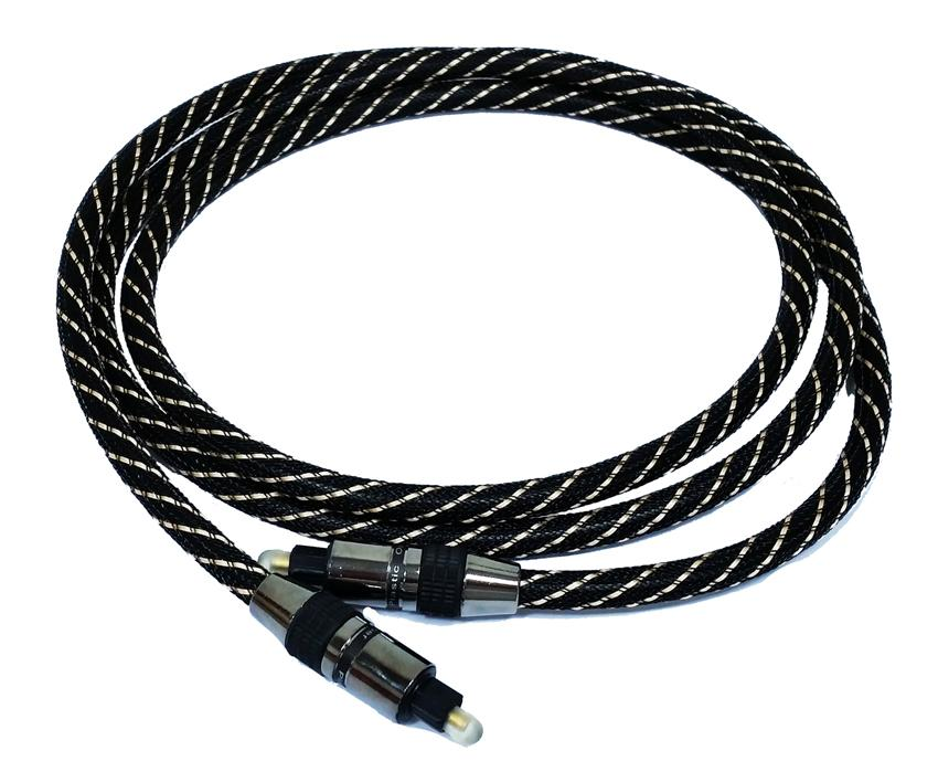 Digital Audio Optical Fiber Toslink Cable 1.5 meter OD 7mm