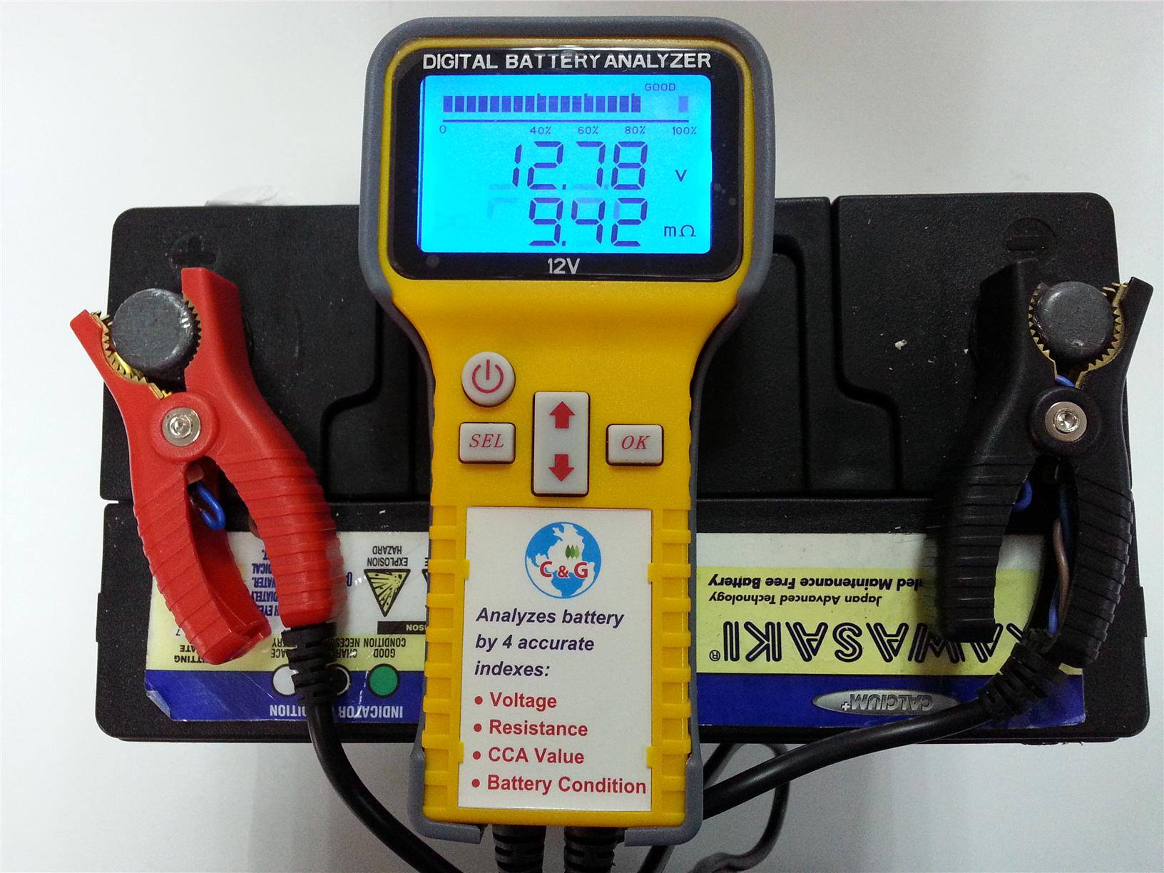 Digital Battery Analyzer for all Vehicle