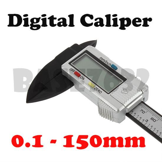 Digital Caliper 0.1-150mm w/ Box Carbon