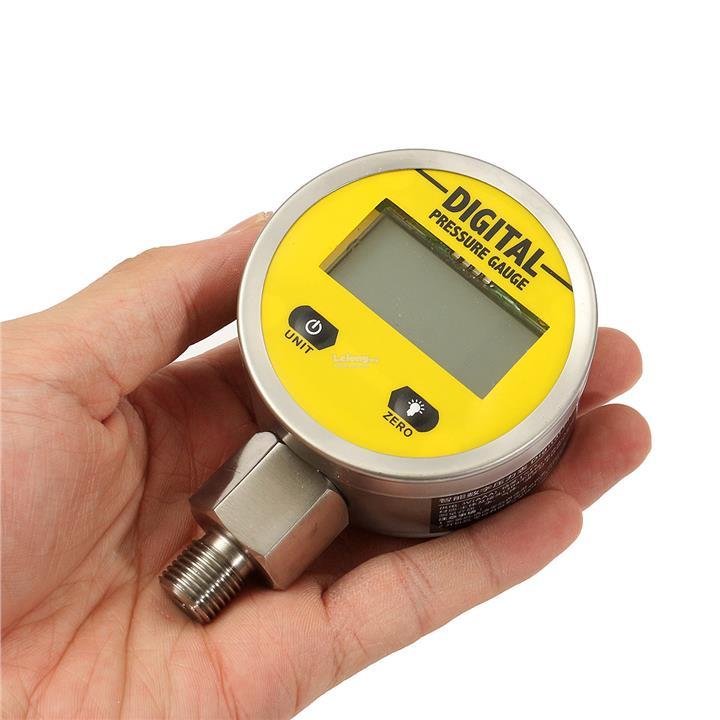 Digital Display Oil Pressure Hydraulic Gauge Pressure Test Meter 250BA