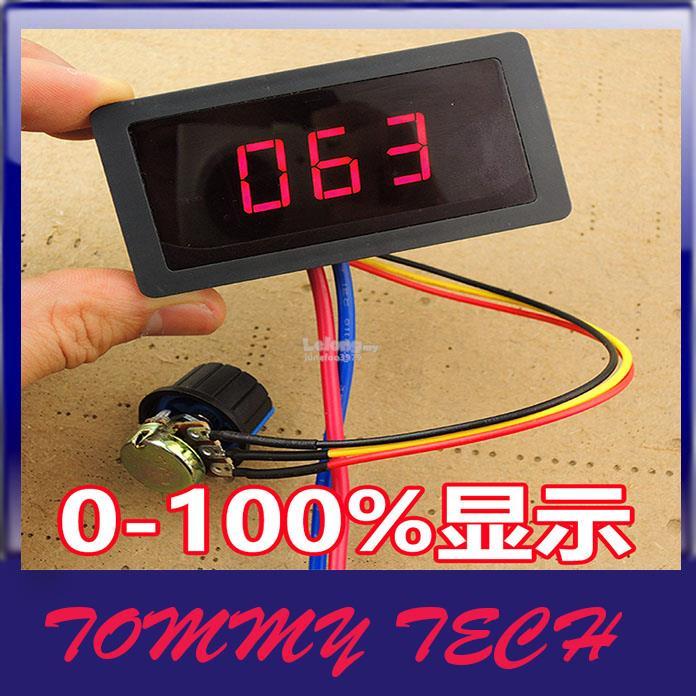 Digital display PWM DC motor governor 6V12V24V stepless speed control
