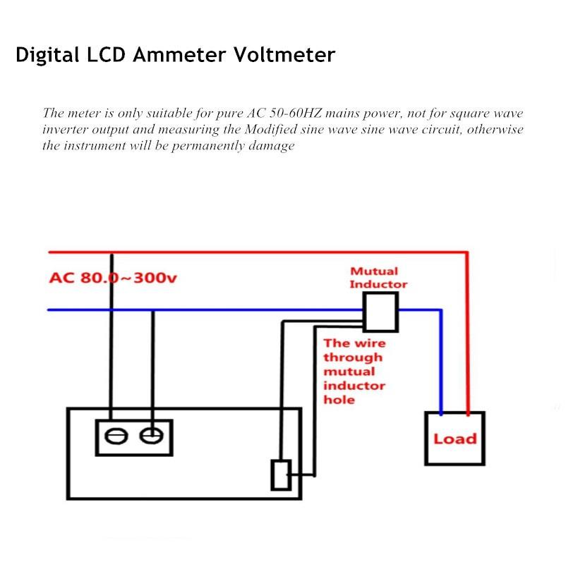 Digital lcd ac ammeter voltmeter amp end 792019 615 am digital lcd ac ammeter voltmeter amp volt ampere current voltage white asfbconference2016 Image collections