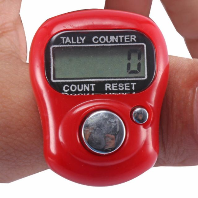 Digital LCD Numerals Electronic Finger Clicker Ring Hand Knit Rows Tally Count