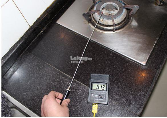 Digital LCD Thermometer TM-902C K Type with 30cm Stainless Steel Rod