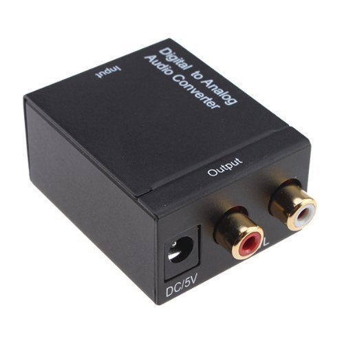 DIGITAL OPTICAL TOSLINK COAXIAL TO ANALOG RCA AUDIO CONVERTER (TV19)