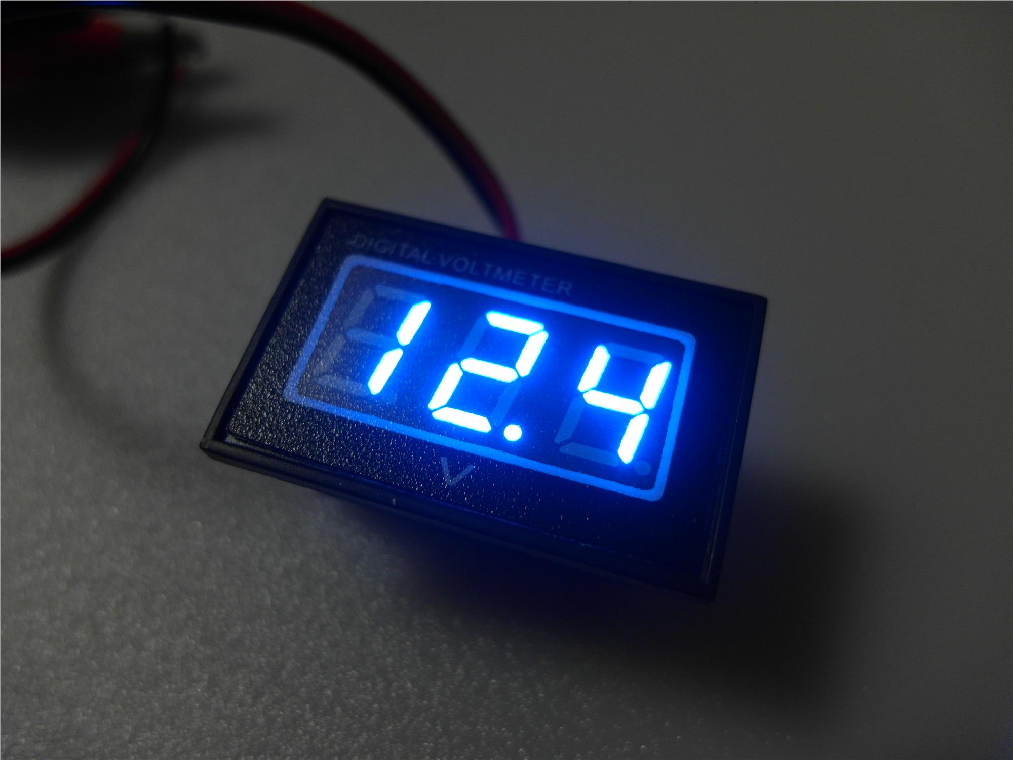 Motorcycle Digital Meter : Digital voltmeter for motorcycle wat end pm