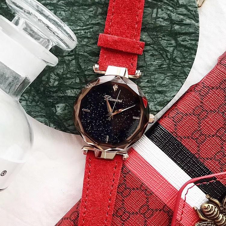 Dimini Lady s Fashion Top Luxury Glitter Face Leather Minimalist Watch. ‹ › 1ece8d1572211
