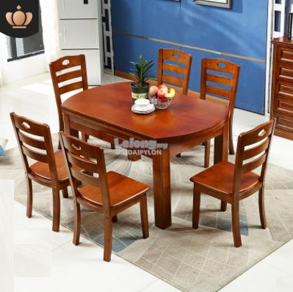 DINING TABLE KITCHEN 6 CHAIRS WOODEN SET ikea wood