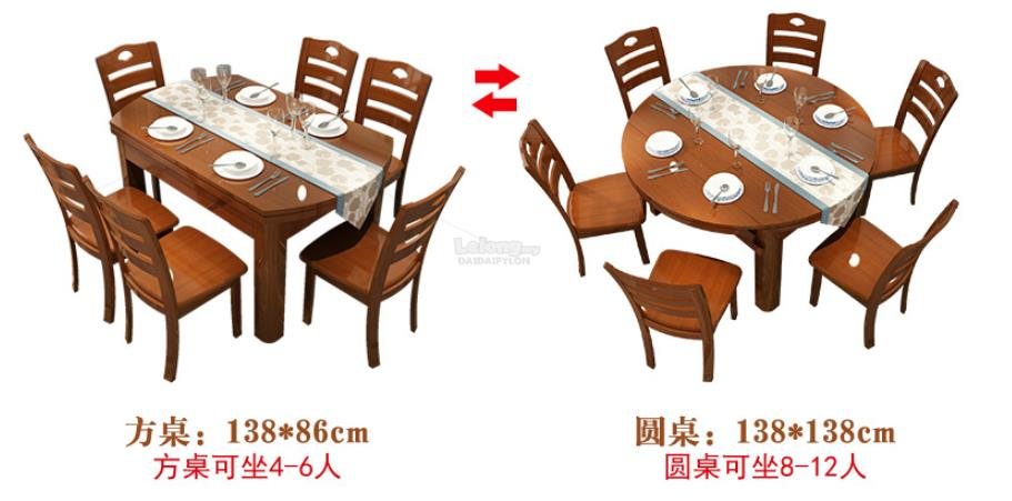 Dining Table Kitchen 6 Chairs Wooden End 1 25 2020 5 47 Pm
