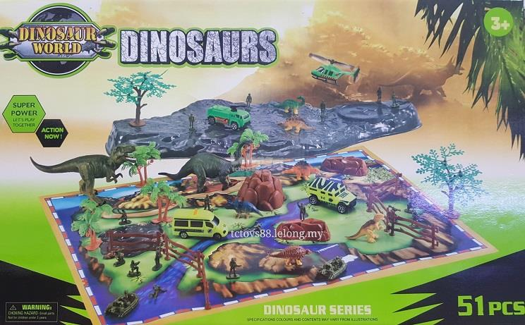 Dinosaur Playset with Map 51pcs set (end 7/11/2019 5:16 PM) on