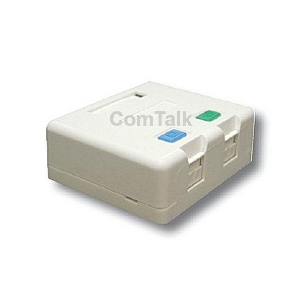 Dintek 2 Port Surface Mount Box with Spring Shutter