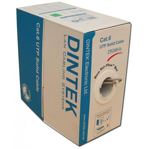 Dintek Cat.6 4 Pair UTP Solid Cable 23AWG (PVC) 305m (1101-04004)