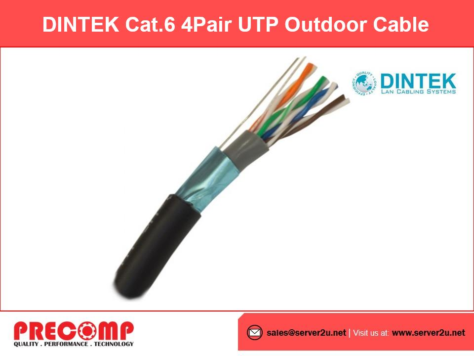 DINTEK Cat.6 4Pair UTP Outdoor Cable (305M/reel) (1101-04013)