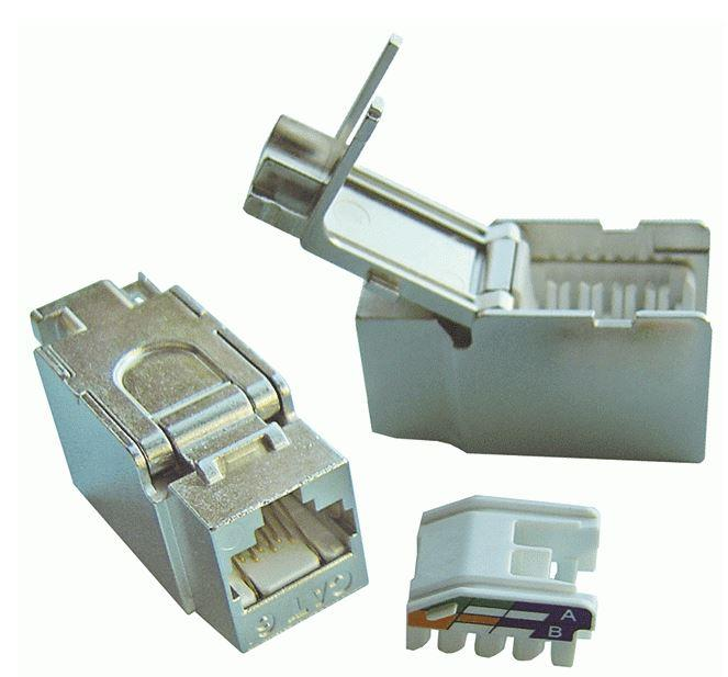 DINTEK Cat 6 Fully Shielded Toolless Keystone Jack (1305-04016)